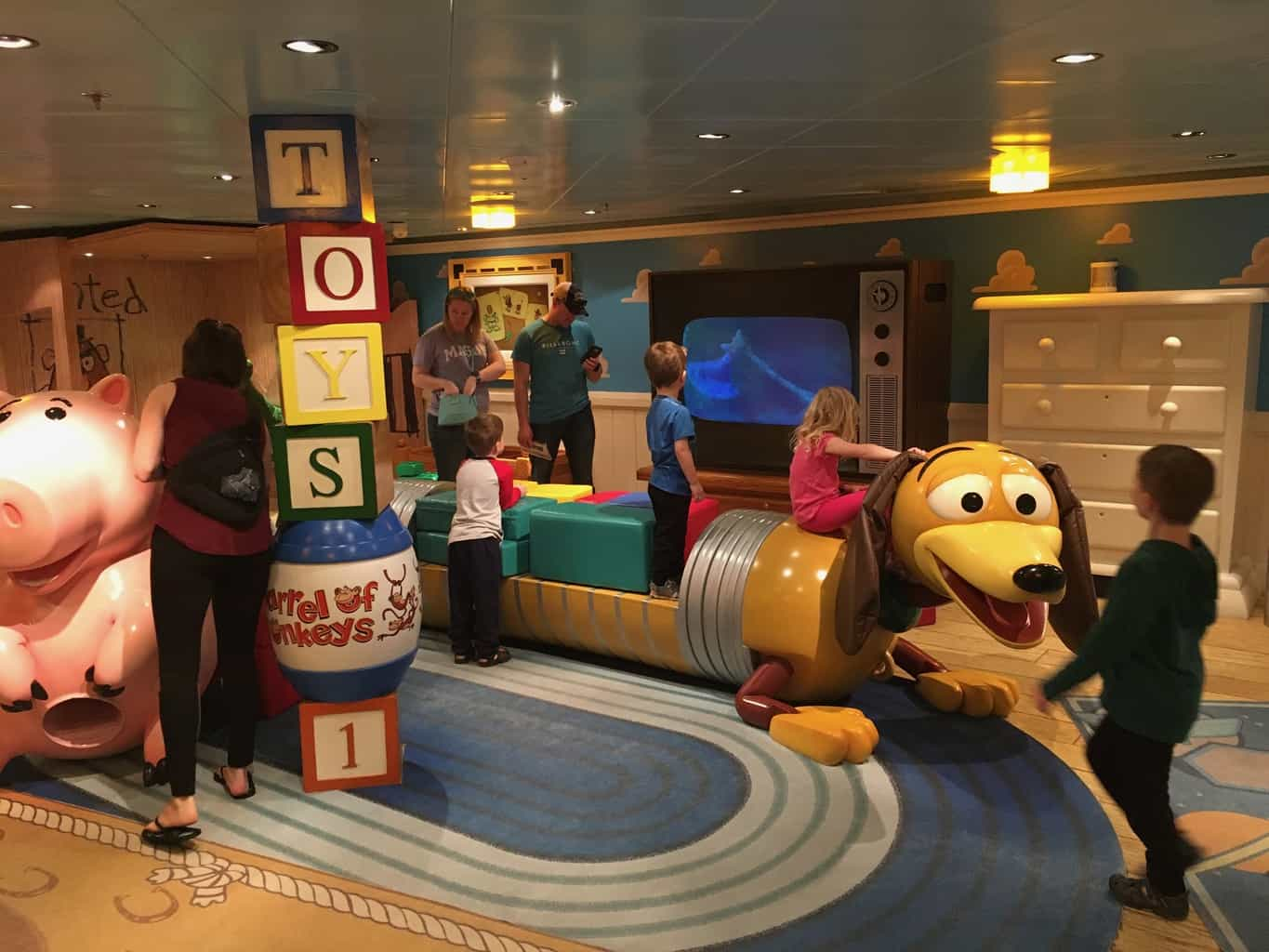 Life Size Version of Andy's Room from Toy Story Onboard the Disney Fantasy Cruise Ship