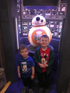 Two Boys with BB-8 Onboard the Disney Fantasy Cruise Ship