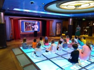 Photo of the Magic Floor inside the Kids Club onboard the Disney Fantasy Cruise Ship