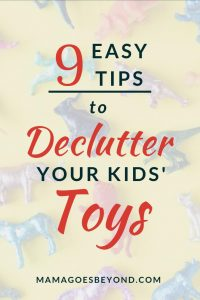 "text ""9 easy tips to declutter your kids' toys"""