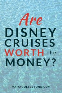 "blue ocean water background with text ""Are Disney Cruises Worth the Money?"""
